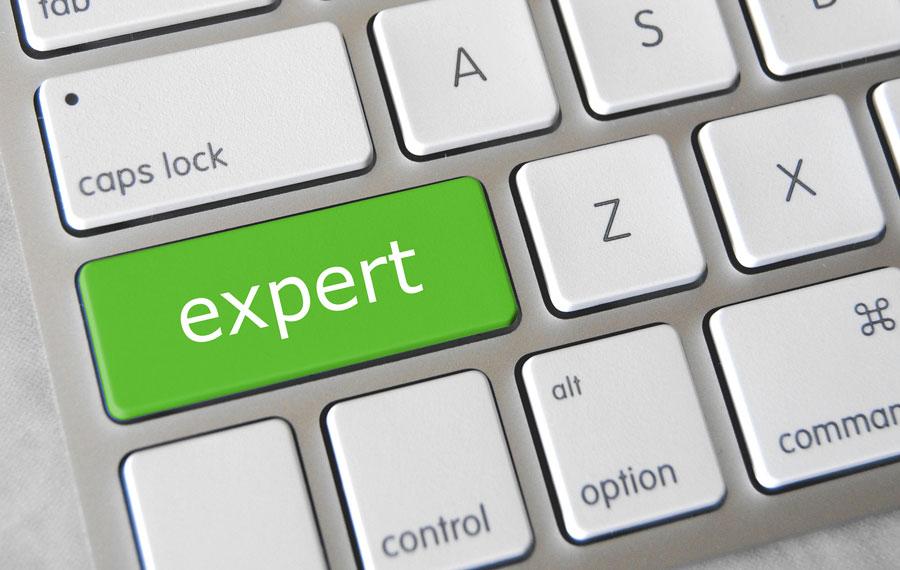 Expert button on computer