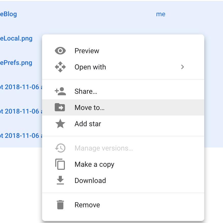 Google Drive Move